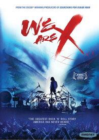新品アメリカ版DVD!【WE ARE X】<X JAPANの封印された歴史を描くハリウッドのドキュメンタリー映画><アメリカ盤につき英語音声の箇所に日本語字幕なし>