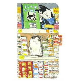 マンハッタナーズ スマホケース グルメ猫 75-8207-ORG Manhattaner's 猫グッズ 猫雑貨