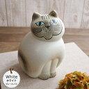 リサラーソン(Lisa Larson) ミアキャット ホワイト(Mサイズ) |リサラーソン 猫グッズ 猫雑貨 猫 ねこ 置物 |