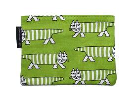 リサラーソン(Lisa Larson) マイキーポーチ グリーン 猫グッズ 猫雑貨 猫 ねこ バッグ 