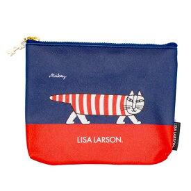 リサラーソン(Lisa Larson)ポーチL(マイキー・赤) リサラーソン 猫グッズ 猫雑貨 猫 ねこ ポーチ バッグ