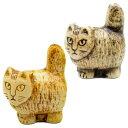 リサラーソン(Lisa Larson) ミニズー ネコ スタンディング (立ち) 猫グッズ 猫雑貨 猫 ねこ 置物  