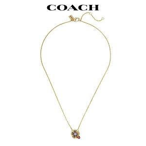 コーチ ネックレス レディース ブランド フラワー クリスタル ゴールド ショート アウトレット COACH
