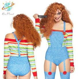 チャイルドプレイ チャッキー 大人用 女性用 セクシー コスプレ コスチューム 衣装 ハロウィン Child's Play