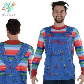 チャイルドプレイ チャッキー 大人用 T-シャツ おもしろ コスプレ コスチューム 衣装 ハロウィン Child's Play