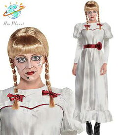 アナベル 死霊博物館 死霊館の人形 大人用 ドレス コスプレ コスチューム 変装 ハロウィン Annabelle