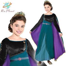 アナと雪の女王 アナ ドレス 子供 キッズ 服 コスプレ なりきり ワンピース Frozen