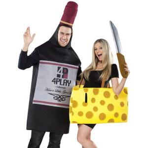 ワイン チーズ カップル おもしろ 仮装 コスチューム コスプレ お笑い 衣装 ハロウィン WINE AND CHEESE