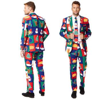 サンタクロース メンズ スーツ セットアップ おもしろ ネクタイ 付き 大きいサイズ あり サンタ クリスマス SANTA CLAUSE