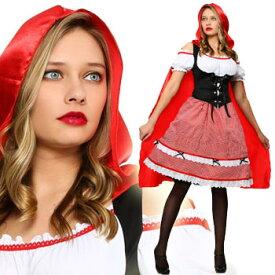 赤ずきん コスプレ 衣装 コスチューム マント エプロン 大きい サイズ ケープ ハロウィン RED RIDING HOOD