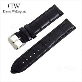 ダニエル ウェリントン 替え ベルト 40mm メンズ レディース 腕時計 ブラック 黒 Daniel Wellington
