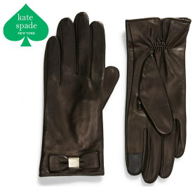 ケイトスペード 手袋 革 リボン レディース おしゃれ かわいい ブランド レザー¥ KATE SPADE NEW YORK