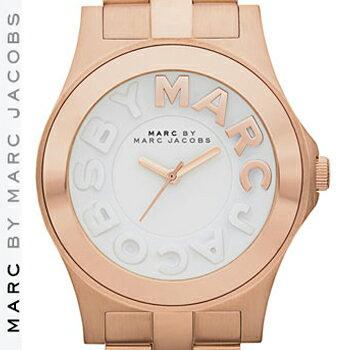 【正規品取扱店】 マーク バイ マーク ジェイコブス 腕時計 リベラ MARC BY MARC JACOBS 'Rivera' Round Bracelet Watch カラー:ローズゴールド