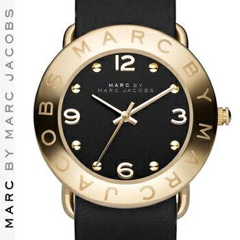 【正規品取扱店】 マーク バイ マーク ジェイコブス 腕時計 エイミー MARC BY MARC JACOBS 'Amy' Leather Strap Watch カラー:ブラック