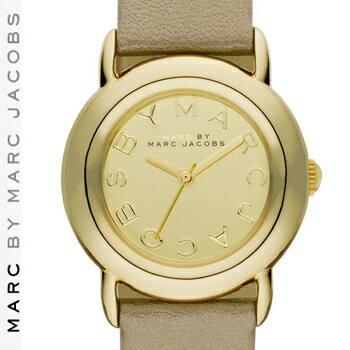 【正規品取扱店】 マーク バイ マーク ジェイコブス 腕時計 マーシー MARC BY MARC JACOBS 'Marci' Leather Strap Watch カラー:ゴールド