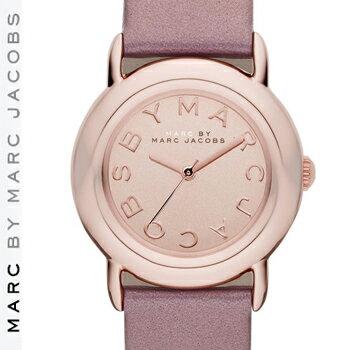 【正規品取扱店】 マーク バイ マーク ジェイコブス 腕時計 マーシー MARC BY MARC JACOBS 'Marci' Leather Strap Watch カラー:ローズゴールド