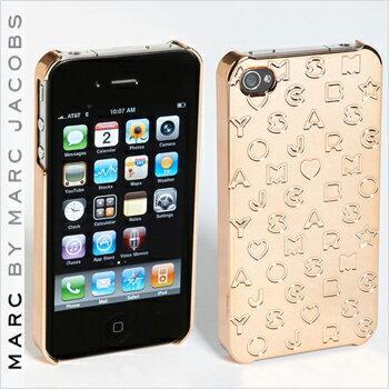 【正規品取扱店】 マーク バイ マーク ジェイコブス iPhone4・4Sケース MARC BY MARC JACOBS 'Metallic Stardust' iPhone 4 Case カラー:ローズゴールド