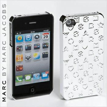 【正規品取扱店】 マーク バイ マーク ジェイコブス iPhone4・4Sケース MARC BY MARC JACOBS 'Metallic Stardust' iPhone 4 Case カラー:シルバー