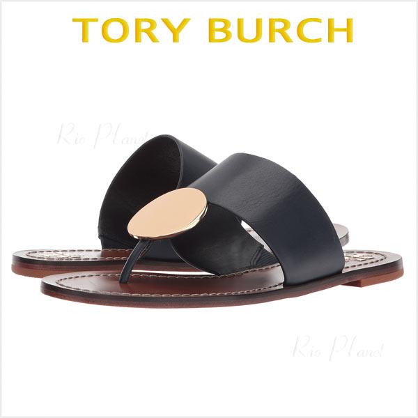 トリーバーチ サンダル トング 黒 レザー レディース 楽天 履き心地 サイズ TORY BURCH
