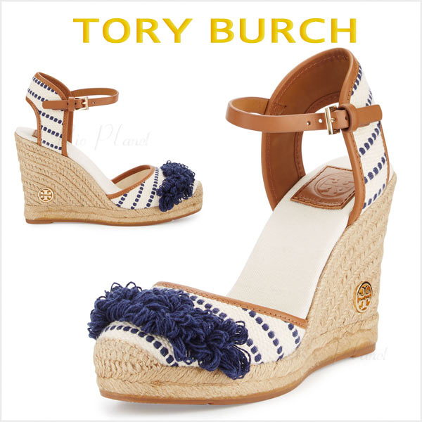 トリーバーチ 厚底 ウエッジ エスパドリーユ 楽天 Tory Burch 正規品