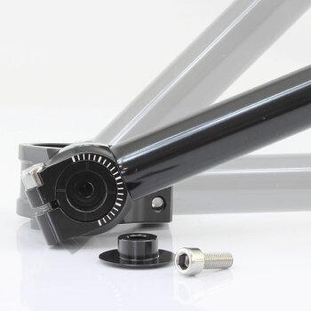 汎用セパレートハンドル/セパハンキットシルバー角度調整可能HIGHタイプ(VTZ250/CBR250F/ジェイド/FZ250/RZ250RR/KR250/S/GPZ250R等に)【ハンドル回りバーハンドルキット】