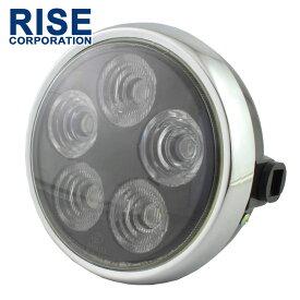 7インチ LED ヘッドライト バルカンタイプ 専用ケース付き 180mm 180φ 180パイ 交換 カスタム パーツ バイク オートバイ