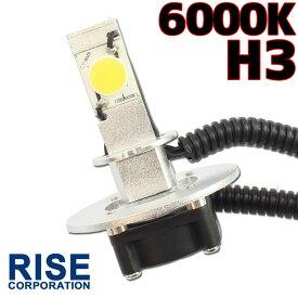 【あす楽対応】 CREE社製 LEDヘッドライト フォグランプ H3 6000k 1灯分 ファン 一体型 バルブ バイク オートバイ 自動車 部品 パーツ カスタム