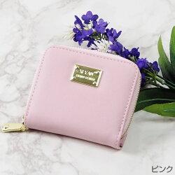 ミニ財布財布レディース二つ折りコンパクト小銭入れミニコインケースおしゃれ可愛い小さい大容量ラウンドファスナー