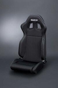 スパルコ R100 ブラックボーダー/ホワイトステッチ リクライニングセミバケット スポーティー&スタイリッシュ スポーツシート Sparco