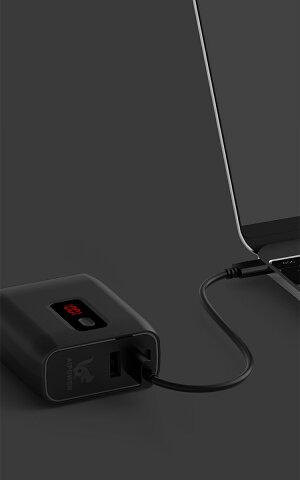 【人気進化版】モバイルバッテリー充電器一体型大容量Risukaiモバイルバッテリーケーブル内蔵ライトニングタイプcLightning携帯充電携帯かわいい【PSE認証済】急速充電可能iPhone&Android&Type-C対応バッテリー充電器残量表示