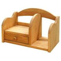 送料無料カントリー家具デスクシェルフT304どこでもおけるミニ本棚アトリエシリーズ