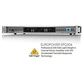 BEHRINGER/べリンガー EPQ304 75W×4(4Ω) 4CH・マルチチャンネルパワーアンプ EPQ304 EUROPOWER