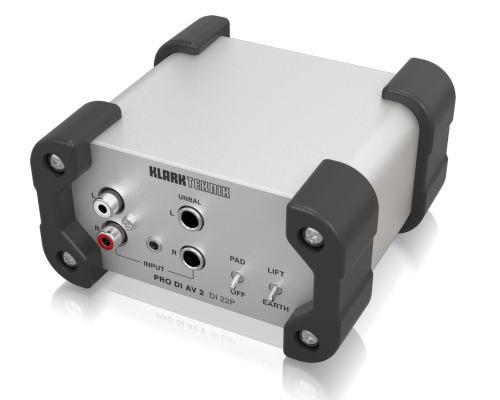 KLARK TEKNIK(クラークテクニック)パッシブステレオDIボックス(TRS&RCA入力)DI 22P