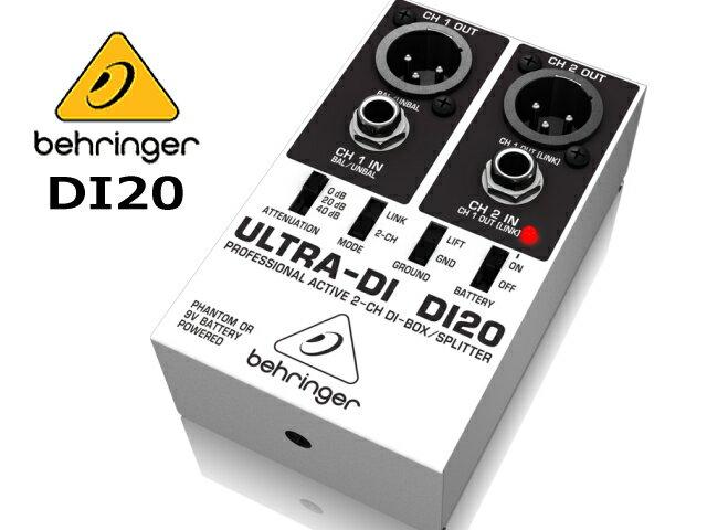 Behringer(ベリンガー)DI-20 ステレオ(2CH) DI ダイレクトボックス DI20 ULTRA-DI
