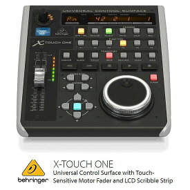 BEHRINGER/べリンガー タッチセンサー付100mmモーターフェーダー搭載イーサネット/USB/MIDIコントローラー X-TOUCH ONE