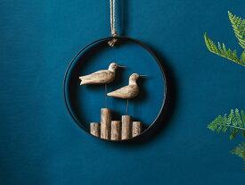 【MELROSE】Sea Gull Plaque / 82337 カモメ ウォールデコ 木製 インテリア 置物 オブジェ