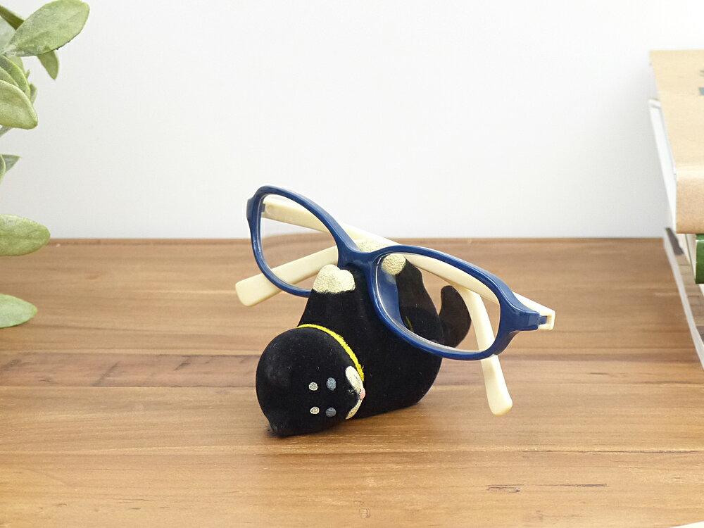 【あす楽対応】じゃれしばメガネホルダー オブジェ フィギュア インテリア 雑貨 置物 干支 縁起物 戌年 母の日 ギフト 父の日 プレゼント 柴犬 眼鏡 メガネスタンド ディスプレイ DECOLE わんころん wankoron シリーズ デコレ