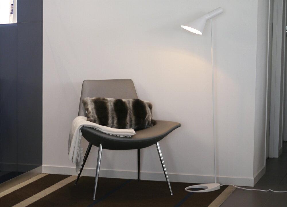AJ フロアライト ホワイト アルネ・ヤコブセン Arne Jacobsen デザイナーズ フロアランプ インテリア照明 ソファ リビング 北欧 ソファ 寝室 ベッド リプロダクト スタンドライト アルネヤコブセン 間接照明 スポットライト フロアスタンド