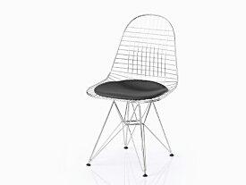 【完成品/組立済】イームズ シェルチェア DKR ワイヤーチェア シートパッド付(ブラック) エッフェルベース Shell Chair ミッドセンチュリー デザイナーズ EAMES リプロダクト ダイニングチェア 椅子 05P26Apr14