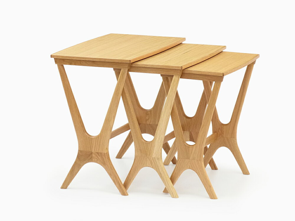 Erling Torvits(エーリング・トロヴィッツ)No.20 ネストテーブル オーク材 サイドテーブル ナイトテーブル ナイトスタンド 木製 北欧 ローテーブル ダイニング 寝室 ソファ テーブル リビング お洒落 インテリア ディスプレイラック
