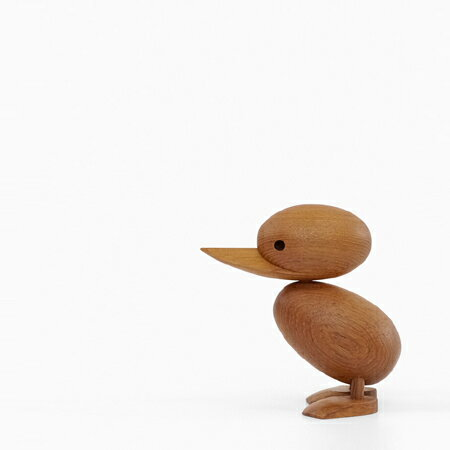 【入荷待ちご予約品】ハンス・ブリング ダックリング Hans Bolling Duckling 子アヒル 木製玩具 フィギュア 木のオブジェ インテリア 人形 置物 北欧雑貨 ジェネリックリプロダクト 干支 鳥 酉 縁起物 西海岸 チーク 可愛い お洒落 ディスプレイ ギフト プレゼント