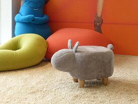 アニマルスツール ラビット 全2色 グレー ホワイト 北欧 チェア イス 椅子 ウッド フットスツール 玄関スツール お洒落 可愛い ベンチ キッズスツール クッション うさぎ 座れる動物 ウサギ 兎 人形 インテリア 座れるぬいぐるみ