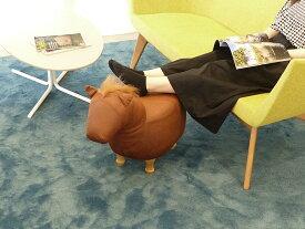 アニマルスツール ホース ファブリックスツール 北欧 チェア イス 椅子 ウッド フットスツール 玄関スツール お洒落 可愛い スツール ベンチ 座れる動物 キッズスツール ウマ 馬 動物 オブジェ インテリア アニマル 座れるぬいぐるみ