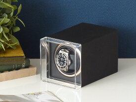Abies パルマ ワインディングマシーン 1本巻 マットブラック 1連 ウォッチワインダー 腕時計 自動巻き ワインディングマシン ウォッチケース 収納ケース メンズ レディース 自動巻き機 時計ケース プレゼント