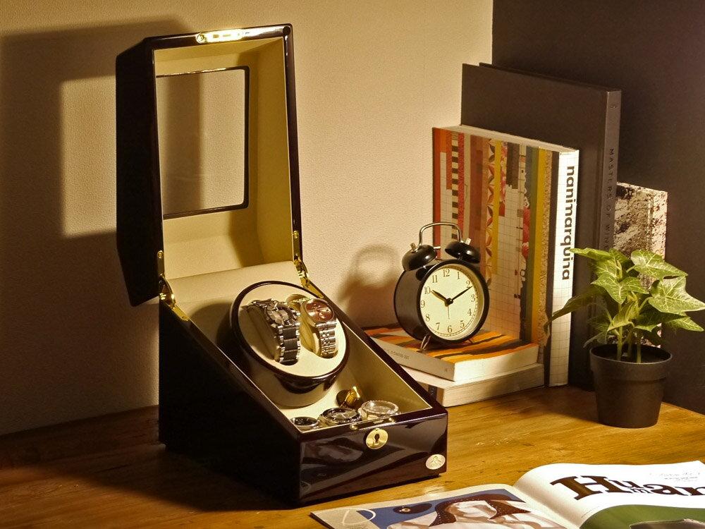 ワインディングマシーン 2本巻 ゼブラウッド Abies(アビエス) 2連 腕時計 自動巻き ワインディングマシン 2本 1本 4本 時計 収納ケース メンズ レディース ケース ウォッチケース 時計ケース ワインダー ギフト スタンド プレゼント 父の日