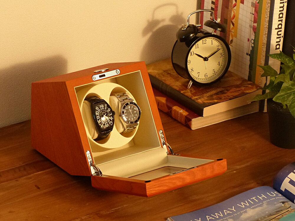 【あす楽対応】Abies カペラ ワインディングマシーン 2本巻 アッシュ × アイボリー 天然木使用 2連 ウォッチワインダー 腕時計 自動巻き ワインディングマシン ウォッチケース 2本 1本 時計 収納ケース メンズ レディース ケース 自動巻き機 時計ケース ギフト