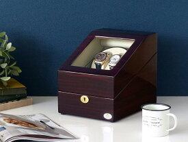 ワインディングマシーン 2本巻 ゼブラウッド × アイボリー Abies(アビエス) 2連 腕時計 自動巻き ワインディングマシン 2本 1本 4本 時計 収納ケース メンズ レディース ケース ウォッチケース 時計ケース ワインダー ギフト スタンド プレゼント