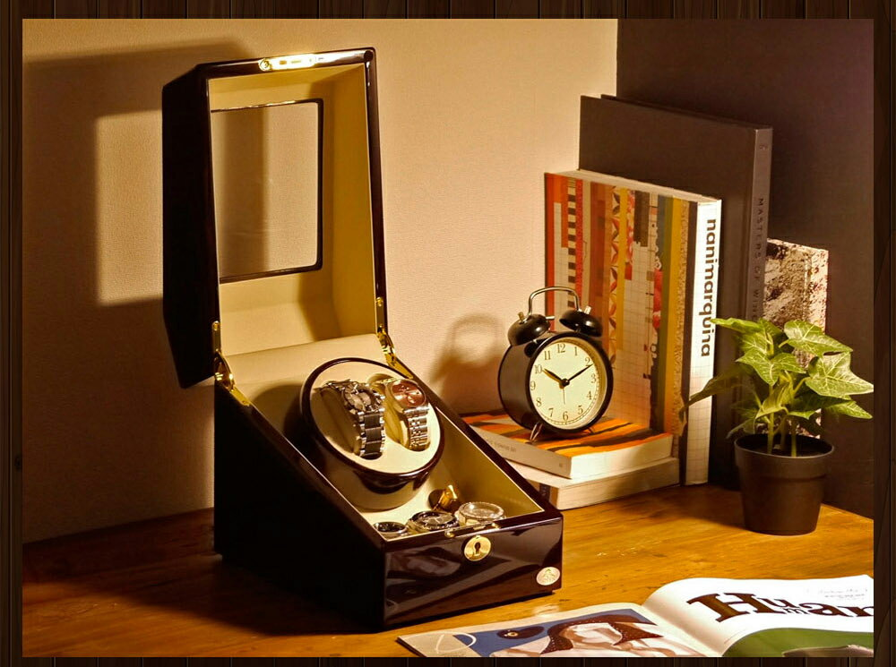 【あす楽対応】ワインディングマシーン 2本巻 ゼブラウッド Abies(アビエス) 2連 腕時計 自動巻き ワインディングマシン 2本 1本 4本 時計 収納ケース メンズ レディース ケース 自動巻き機 ウォッチケース 時計ケース ワインダー ギフト ウォッチスタンド プレゼント