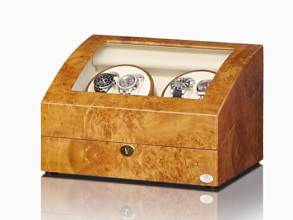 【あす楽対応】ワインディングマシーン 4本巻 ライトブラウン Abies(アビエス) ワインダー 4連 腕時計 自動巻き ワインディングマシン 2本 3本 4本 時計 収納ケース メンズ レディース ケース 自動巻き機 ウォッチケース 時計ケース ギフト ウォッチスタンド プレゼント