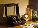 ワインディングマシーン 4本巻 ブラック × ブラック Abies(アビエス) 4連 腕時計 プレゼント 2本 4本 3本 時計 収納…